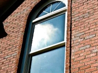 Double Hung Window with Circle Top