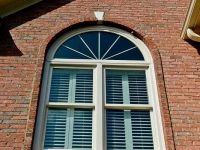 Double Hung Windows with Circle Top